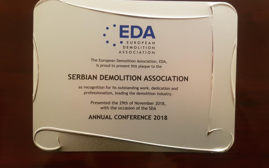 ЕДА наградила Српску асоцијацији за рушење